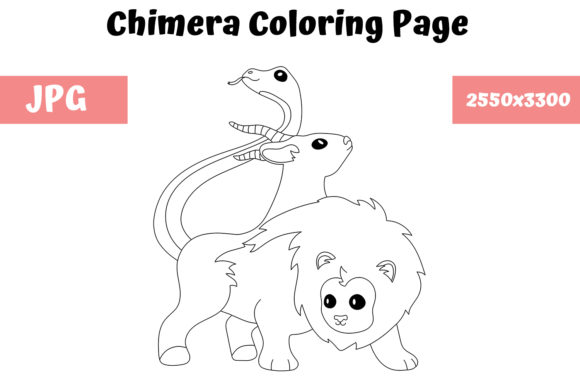Print on Demand: Coloring Page for Kids - Chimera Graphic Coloring Pages & Books Kids By MyBeautifulFiles