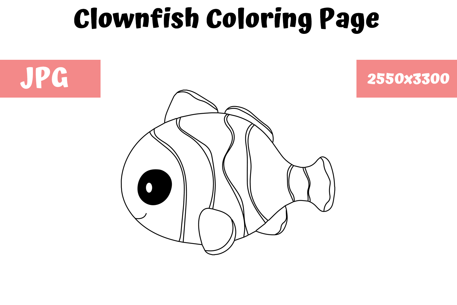 coloring page for kids clownfish graphic by mybeautifulfiles creative fabrica coloring page for kids clownfish