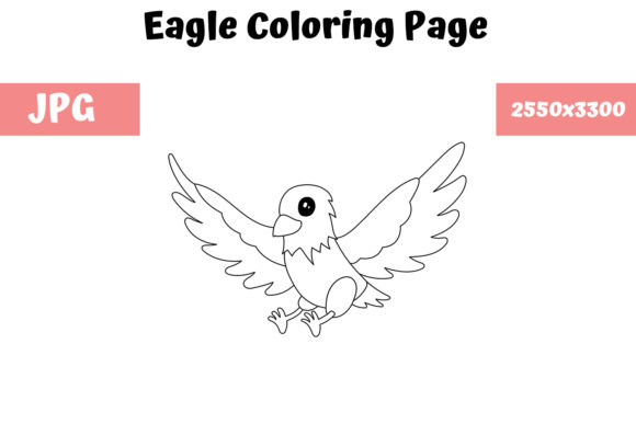 Print on Demand: Coloring Page for Kids - Eagle Graphic Coloring Pages & Books Kids By MyBeautifulFiles