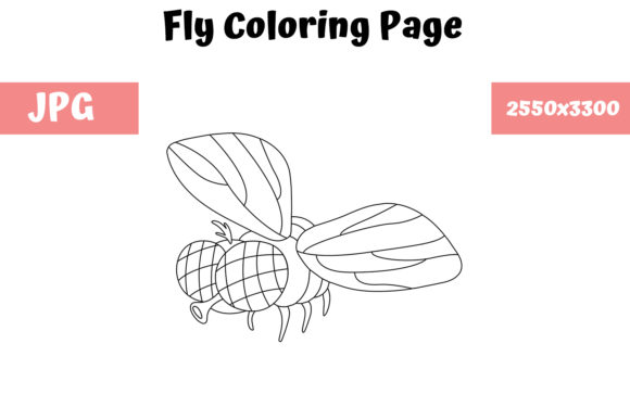 Print on Demand: Coloring Page for Kids - Fly Graphic Coloring Pages & Books Kids By MyBeautifulFiles