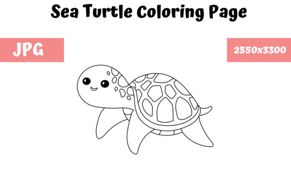 - Coloring Page For Kids - Sea Turtle (Graphic) By MyBeautifulFiles ·  Creative Fabrica