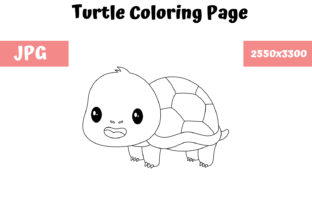 Print on Demand: Coloring Page for Kids - Turtle Graphic Coloring Pages & Books Kids By MyBeautifulFiles