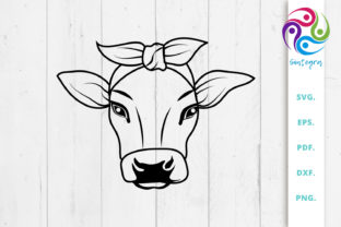 Print on Demand: Cow with Bandana Graphic Crafts By Sintegra