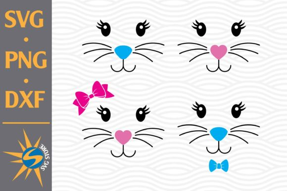 Cute Easter Face Graphic Crafts By SVGStoreShop
