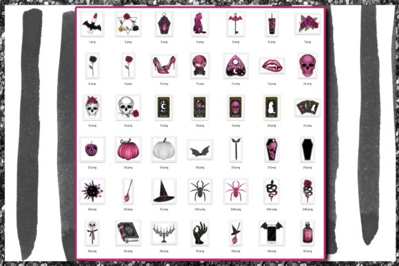 Print on Demand: Cute Halloween Clipart Set Graphic Illustrations By TheGGShop - Image 2