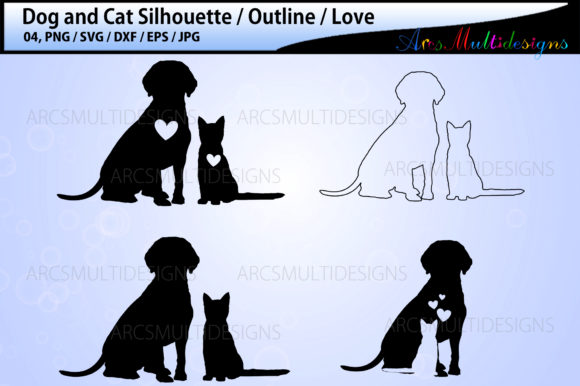 Print on Demand: Dog and Cat Graphic Illustrations By Arcs Multidesigns