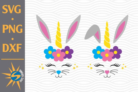 Easter Head Unicorn Graphic Crafts By SVGStoreShop