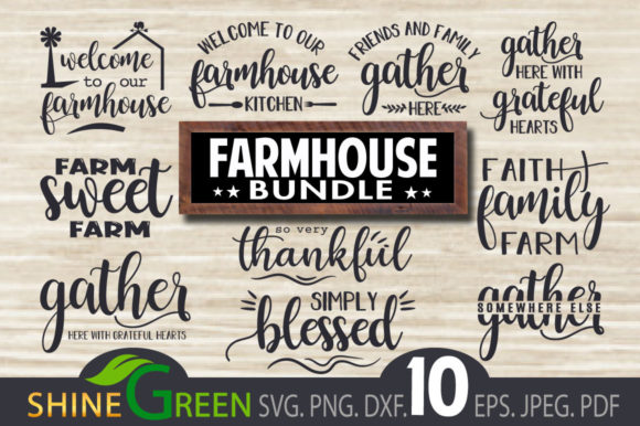 Print on Demand: Fall Farmhouse Bundle Graphic Crafts By ShineGreenArt