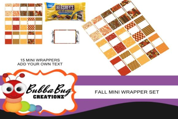 Fall Mini Wrapper Set Graphic Crafts By BUBBABUG