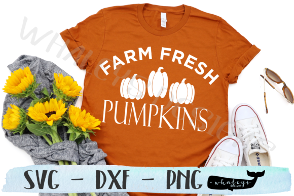 Farm Fresh Pumpkins, Fall, Sign SVG Graphic Illustrations By WhaleysDesigns