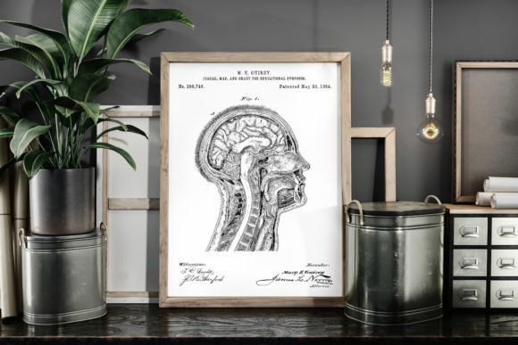 Print on Demand: Figure, Map and Chart Vintage Patent Art Graphic Illustrations By Antique Pixls