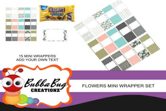 Flowers Mini Wrapper Set Graphic Crafts By BUBBABUG