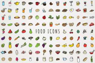 Food Icons Hand Drawn Clip Art Graphic Icons By LemonadePixel