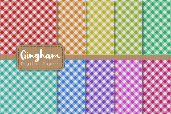 Print on Demand: Gingham Fabric Cloth Pattern Papers Graphic Patterns By Prawny