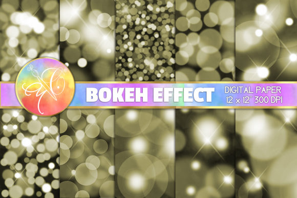 Gold Bokeh Digital Paper / Background Graphic Backgrounds By paperart.bymc