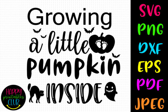 Print on Demand: Growing Little Pumpkin Halloween Graphic Crafts By Happy Printables Club