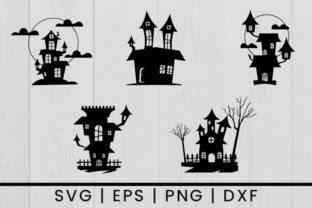 Print on Demand: Halloween Haunted House Vector Graphic Crafts By damasyp