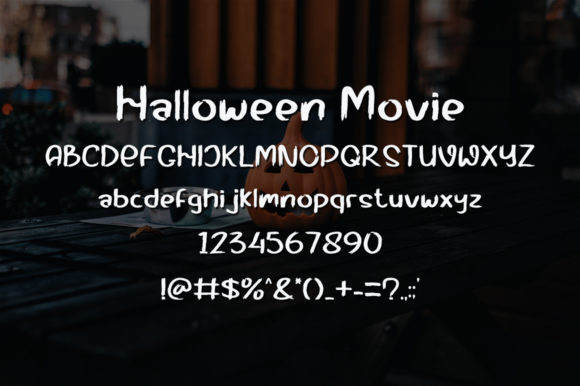 Halloween Movie Font Preview