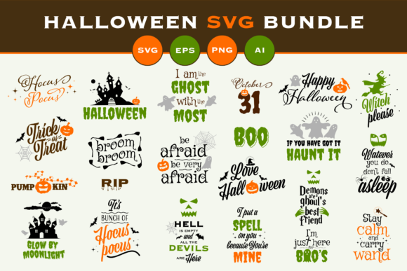 Print on Demand: Halloween SVG Bundle Graphic Illustrations By Simply Swapnil