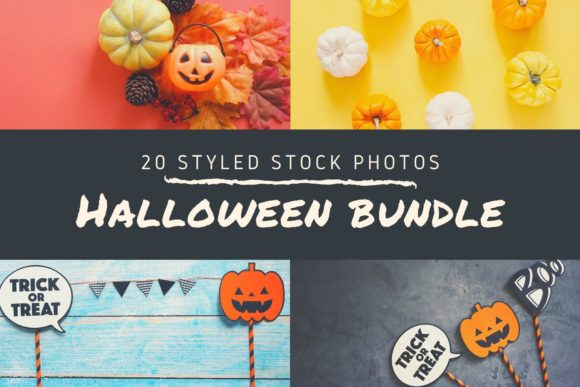 Halloween Bundle 20 Styled Stock Photos Graphic Holidays By Nuchylee