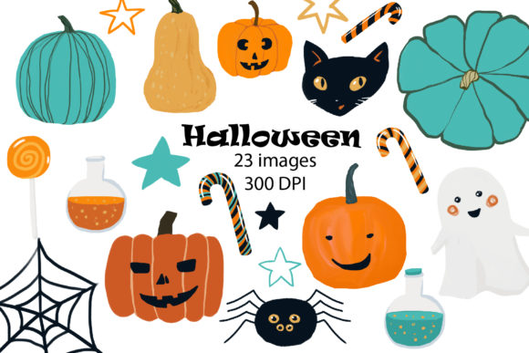 Halloween Clipart Graphic Illustrations By lena-dorosh