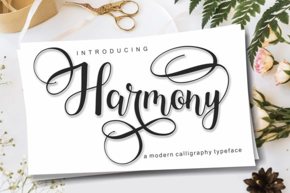 Print on Demand: Harmony Script & Handwritten Font By pujalettering