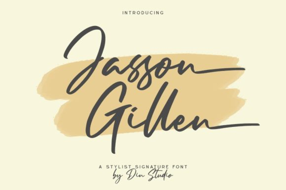 Print on Demand: Jasson Gillen Script & Handwritten Font By Din Studio