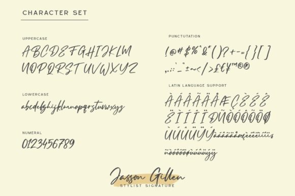 Print on Demand: Jasson Gillen Script & Handwritten Font By Din Studio - Image 2