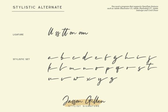 Print on Demand: Jasson Gillen Script & Handwritten Font By Din Studio - Image 3