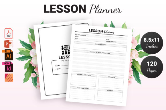 Print on Demand: Lesson Planner - KDP Interior Graphic KDP Interiors By KDP Ninja