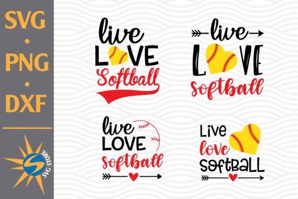 Live Love Softball Graphic Crafts By SVGStoreShop