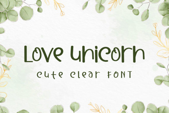 Print on Demand: Love Unicorn Display Font By K_IN Studio