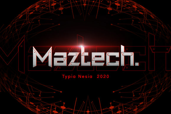 Print on Demand: Maztech Display Font By Typia Nesia