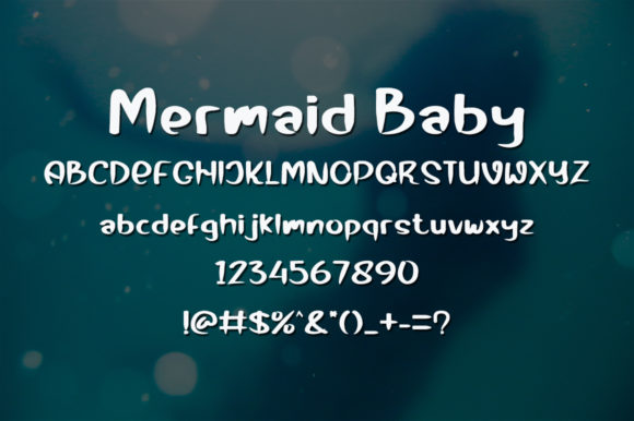 Mermaid Baby Font Preview
