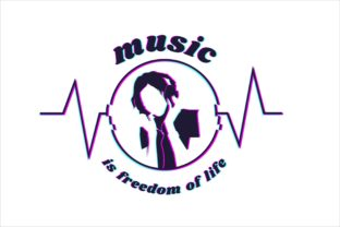Print on Demand: Music is Freedom of Life Graphic Illustrations By edywiyonopp 1