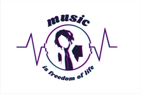 Music is Freedom of Life Graphic