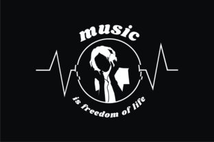 Print on Demand: Music is Freedom of Life Graphic Illustrations By edywiyonopp 3