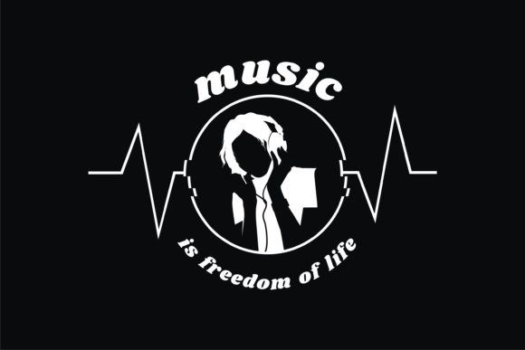 Music is Freedom of Life Graphic Item