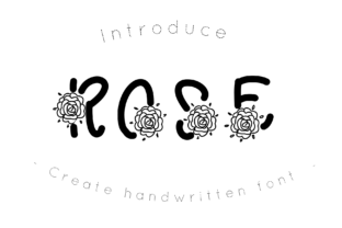 Print on Demand: Rose Decorative Font By CSDesign