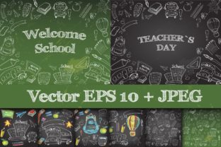 School Supplies Set Clipart & Vector Graphic Objects By EvgeniiasArt