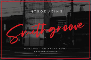 Print on Demand: Smithgroove Script & Handwritten Font By Maulana Creative