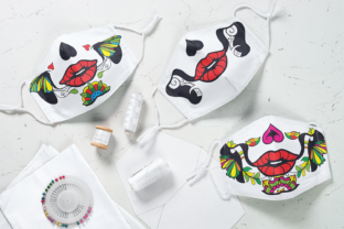 Sugar Skull Face Mask Graphic Crafts By Craft-N-Cuts 2