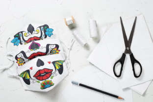 Sugar Skull Face Mask Graphic Crafts By Craft-N-Cuts 3