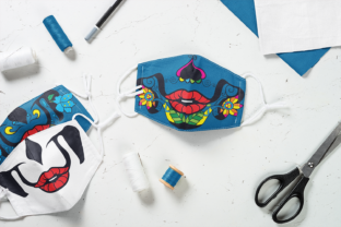 Sugar Skull Face Mask Graphic Crafts By Craft-N-Cuts 5