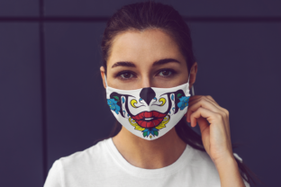 Sugar Skull Face Mask Graphic Crafts By Craft-N-Cuts 6