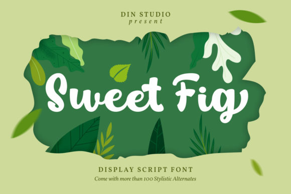 Print on Demand: Sweet Fig Display Schriftarten von Din Studio