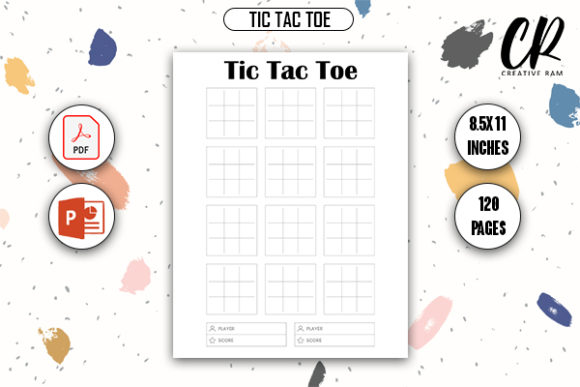 Tic Tac Toe Game - KDP Interior Graphic KDP Interiors By Creative Ram