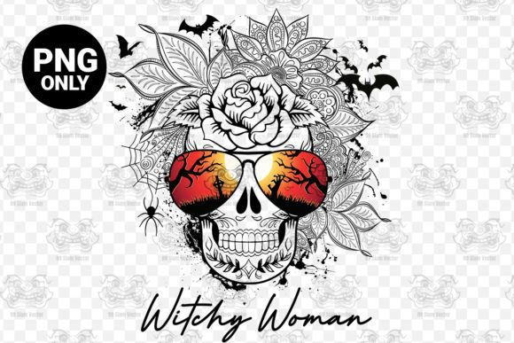 Print on Demand: Witchy Woman Sublimation Digital Graphic Print Templates By 99 Siam Vector