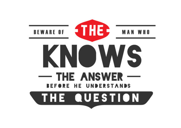 Before He Understands the Question Graphic