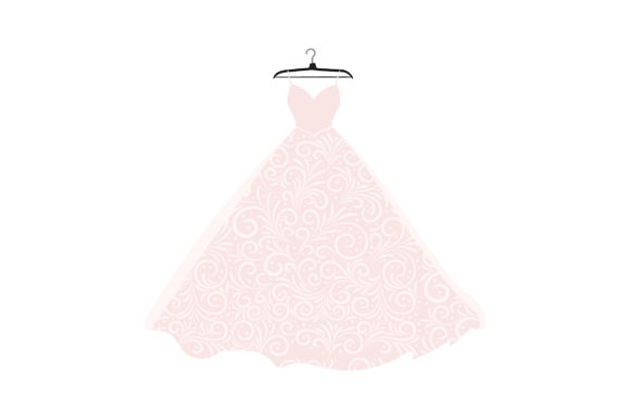Wedding Dress on Hanger Wedding Craft Cut File By Creative Fabrica Crafts